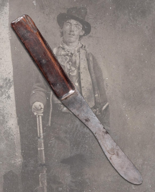 The only-known photograph of Billy the Kid, and his historic butcher knife