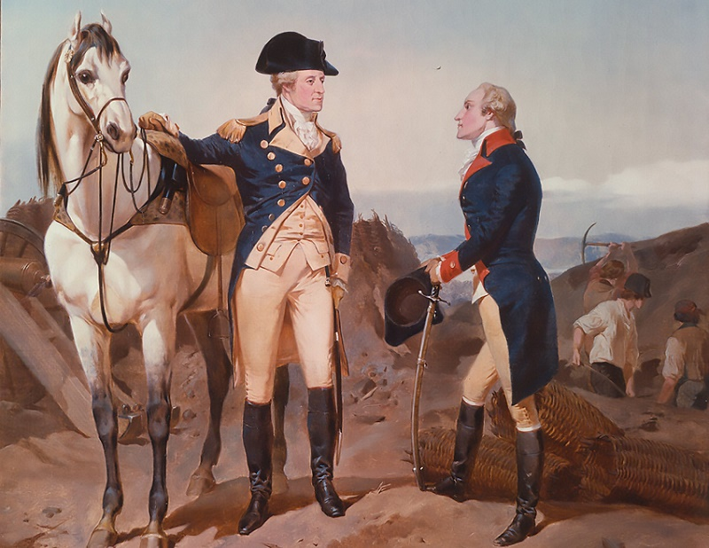 Hamilton served as one of Washington's most important military assistants during the American Revolutionary War