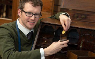 Hansons' expert Edward Rycroft discovered the coin hidden inside a secret drawer