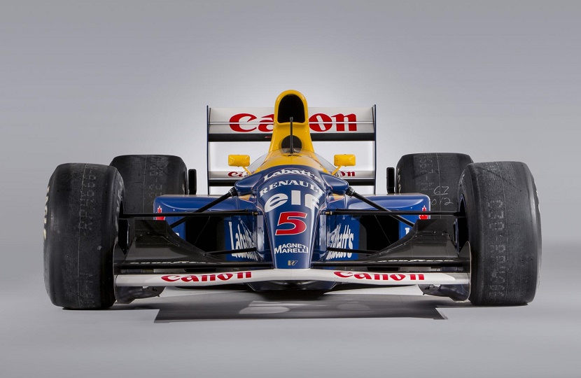 Mansell drove the car to victory in the first five races of the 1992 season