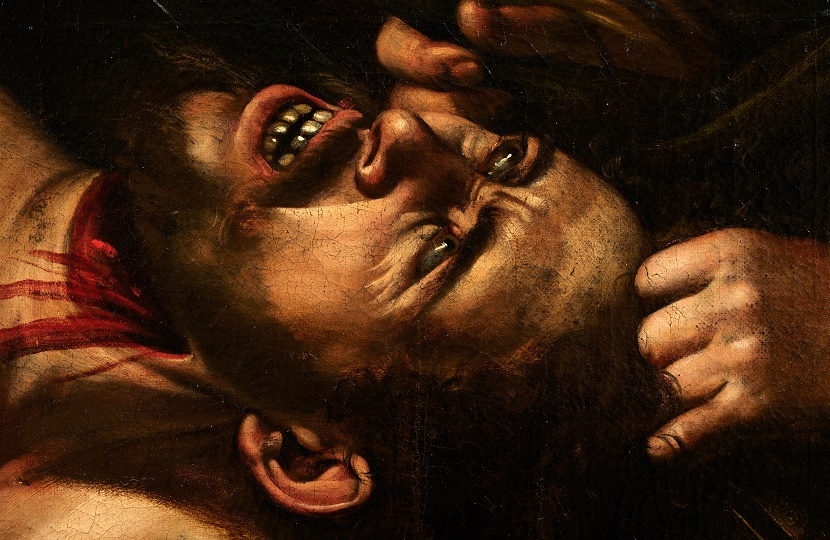 The painting is believed to be the lost Caravaggio masterpiece 'Judith and Holofernes', painted circa 1607