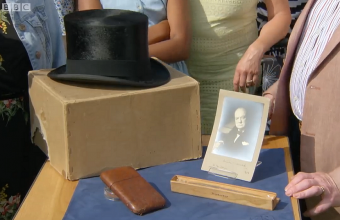 The collection of Winston Churchill memorabilia, including his hat, was brought to an Antiques Roadshow valuation day in South East London