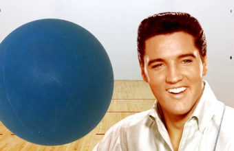 A racquetball used by Elvis during his last game, played just hours before his death in 1977