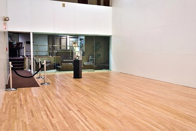 The Graceland racquetball court, restored to its original condition in 2017