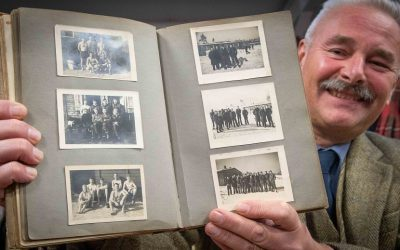 The journal of RAF Flight Lieutenant Vivian Phillips features photos and his account of life as a POW at Stalag Luft III