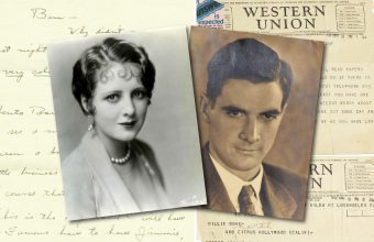 A cache of love letters from Howard Hughes to the silent movie star Billie Dove is up for sale at One Of A Kind Auctions