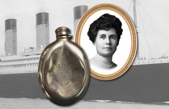 A silver brandy flask owned by Titanic survivor Helen Churchill Candee could sell for up to $100,000 later this month.