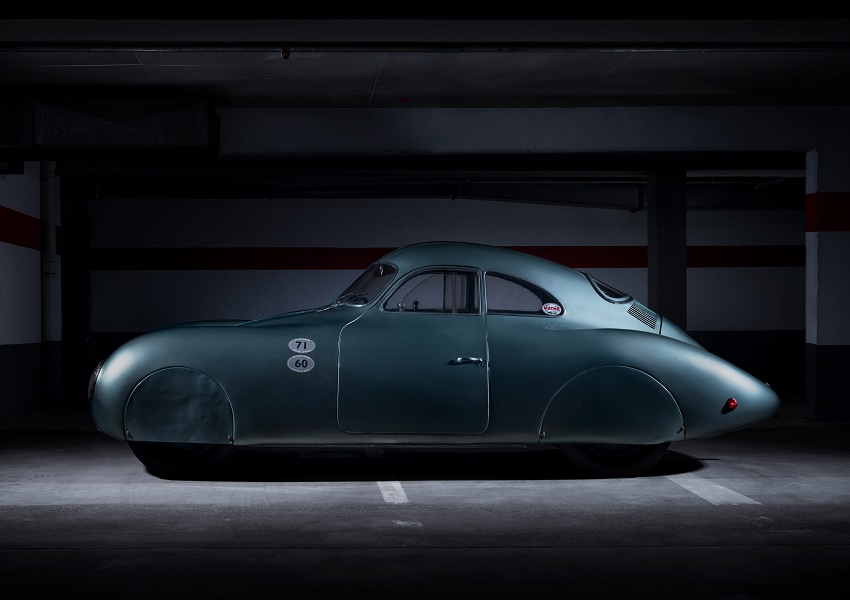 The car is one of three prototypes designed for a government-sponsored Berlin-Rome road race which never took place due to the outbreak of WWII