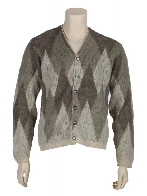 The cardigan worn by Kurt Cobain during his last-ever photo shoot in July 1993.