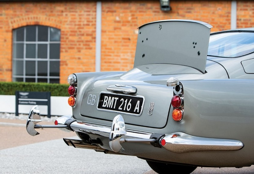 This particular Aston Martin comes with hydraulic rams and a rear bullet-proof screen as standard