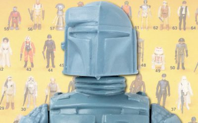 rocket-firing Boba Fett Star Wars figure for auction at Hake's Americana
