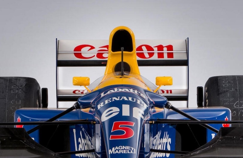 Nigel Mansell's 1992 Williams F1 car sets a new auction record at Bonhams Goodwood sale