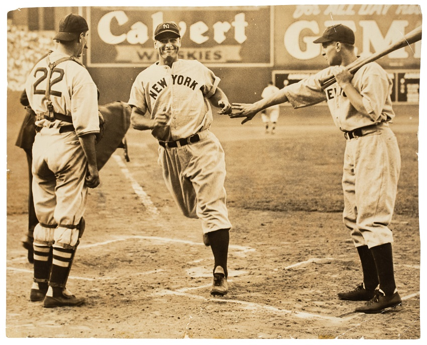 Lou Gehrig wore the jersey in a home run game against the Boston Red Sox on August 11, 1937