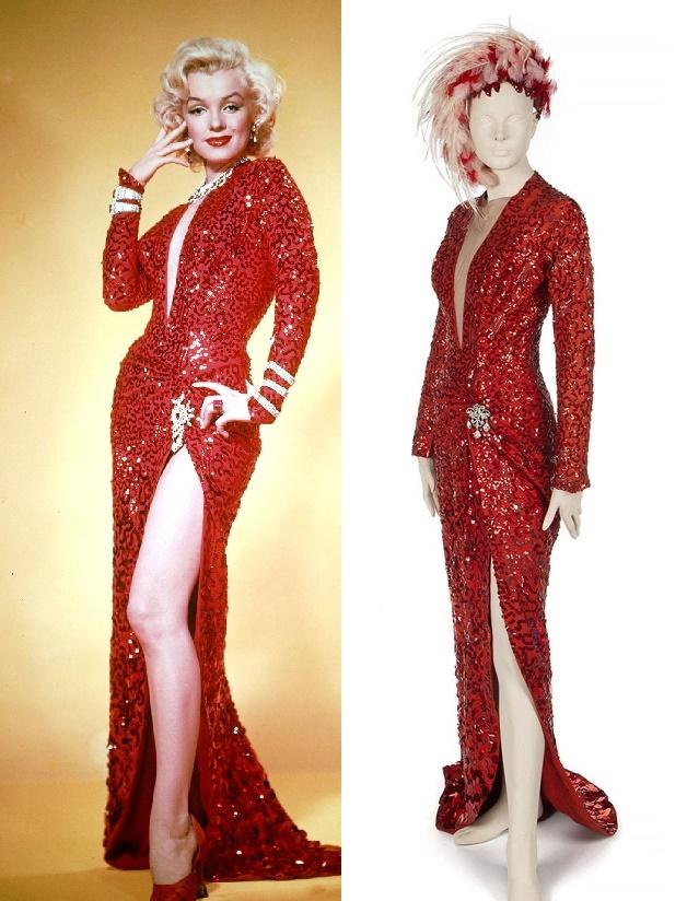 Marilyn Monroe's red evening gown, as worn on-screen in Gentlemen Prefer Blondes