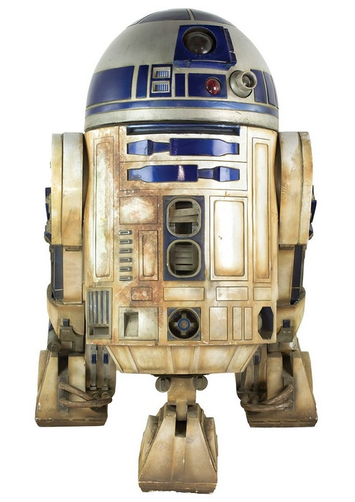 A full-scale R2-D2 model made by Industrial Light and Magic