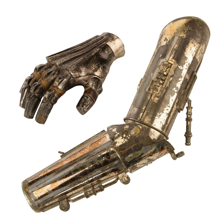 A C3-PO hand and arm worn by Anthony Daniels in The Empire Strikes Back