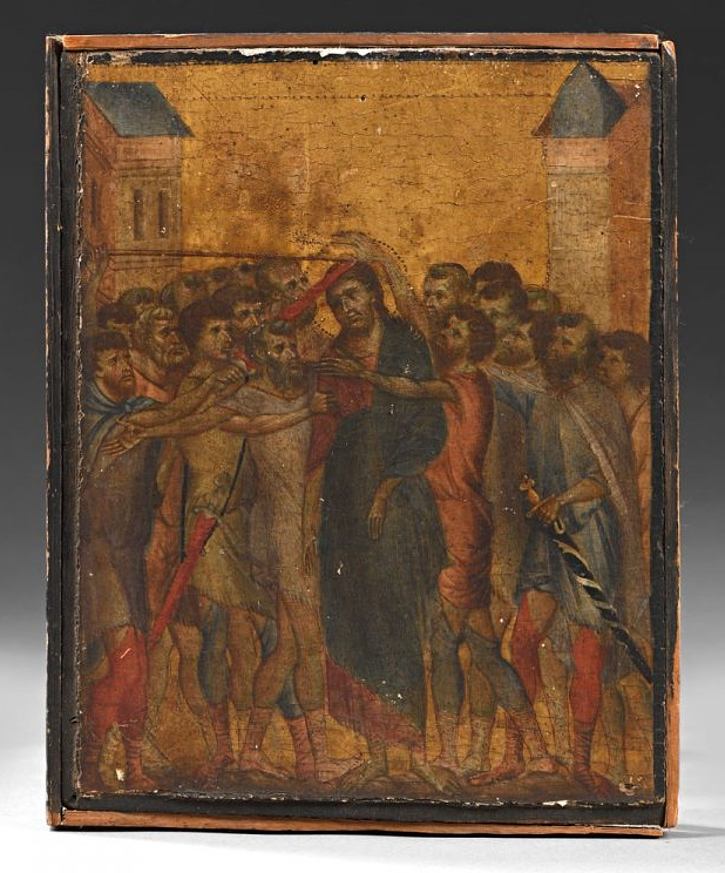 Christ Mocked by Cimabue, circa 1280, estimated at €4 - €6 million (Image courtesy of  Interencheres)