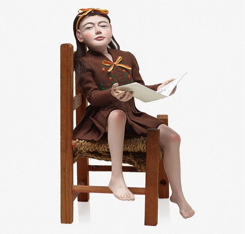 Daydreaming Girl, circa 1950, by Morton Bartlett, estimated at $100,000 - $150,000 (Image: Rago)