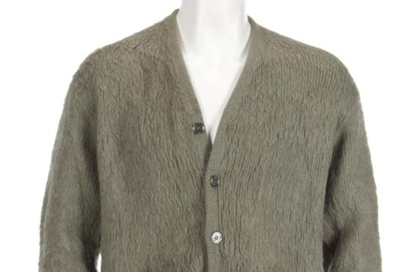 Kurt Cobain's Nirvana MTV Unplugged green cardigan is up for sale at Julien's Auctions
