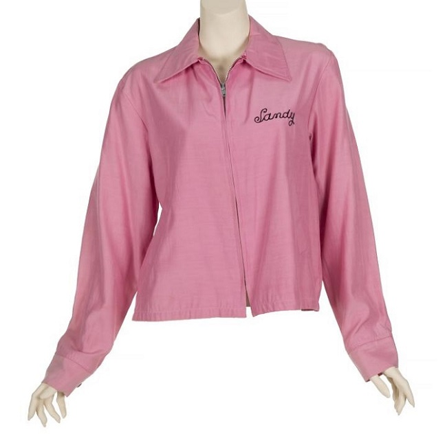 The auction also included Newton-John's screen-worn Pink Ladies jacket, which sold for $50,000 against a high estimate of just $4,000 (Image: Julien's Auctions)