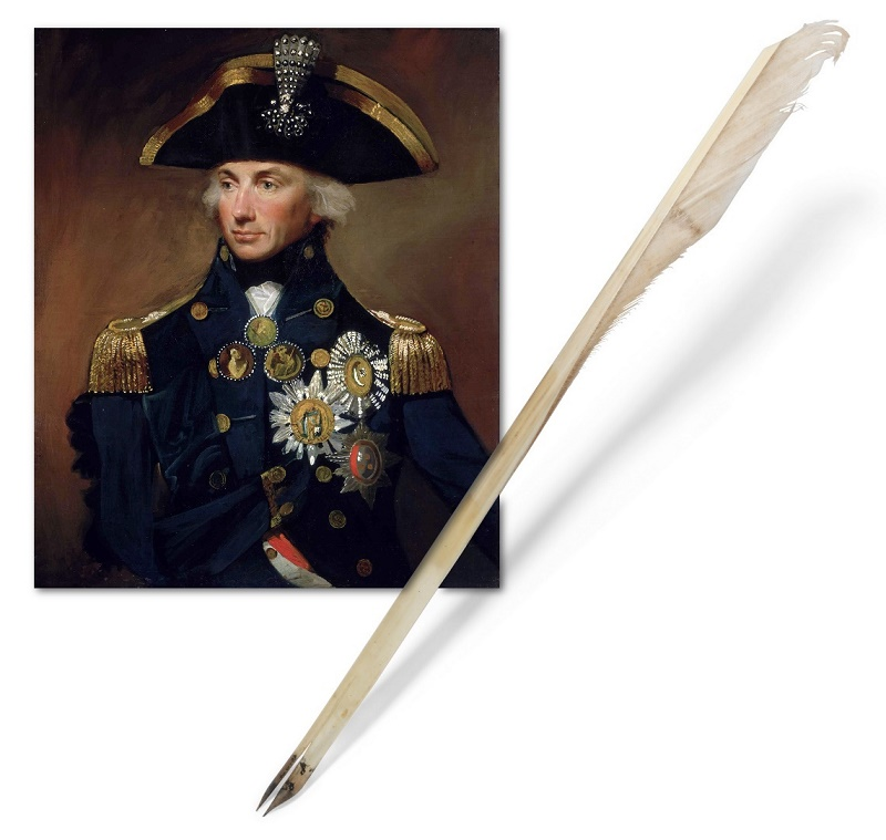 The quill was used by Nelson to write his final letter, the morning before the Battle of Trafalgar (Image: Christie's)