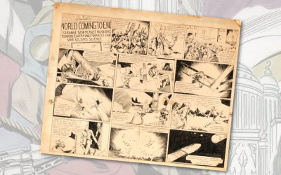 Alex Raymond's original Flash Gordon #1 comic strip art set for auction