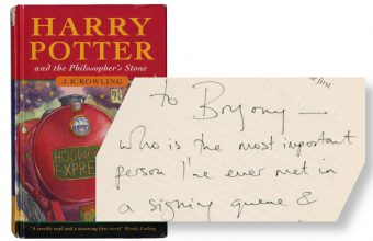 Signed Harry Potter first edition sold at Bonhams