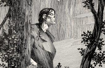 Bernie Wrightson's original endpaper artwork for Frankenstein