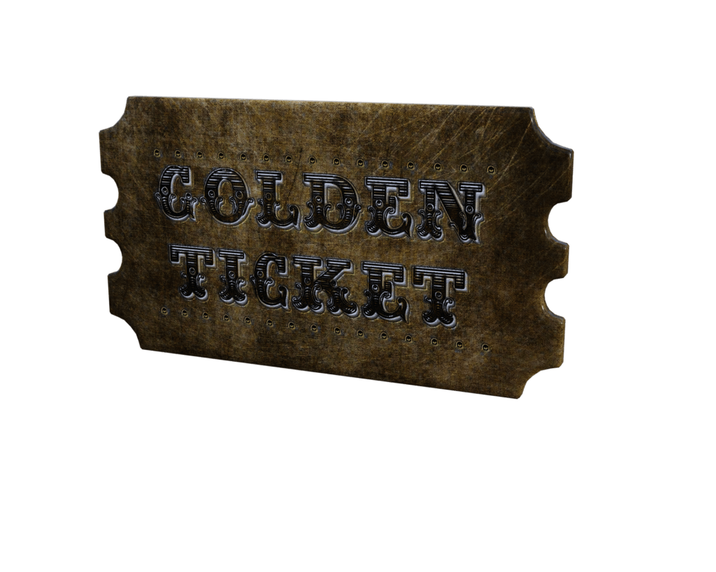 And the Winner is.... The Golden Ticket Competition and Prize Giveaway