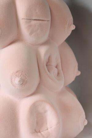 The Wick - Charlotte Colbert Mameria, 2019 Foam and Gesso Plaster  290 x 130 x 130 cm