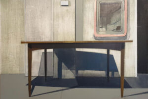 The Wick - Dining Table With Mirror, Richard Baker