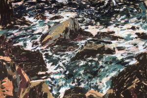 The Wick - Roaring Still, Tyga Helme Chalk pastel on paper  50 x 70cm