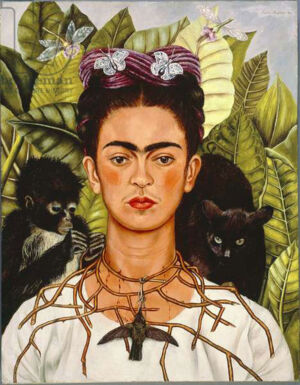 The Wick - Frida Kahlo, Self-Portrait with Thorn Necklace and Hummingbird, 1940