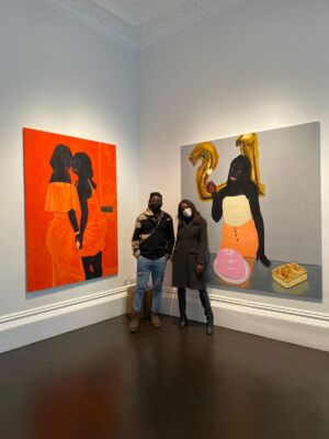 The Wick - Aindrea with the artist Kwesi Botchway at Gallery 1857