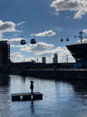 The Wick - Laura Ford, Bird Boy  Royal Docks Photo Helen Simms Courtesy of The Line