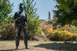 The Wick - Thomas J Price, Reaching Out Three Mills Photo: Vassilis Skopelitis Courtesy The Line