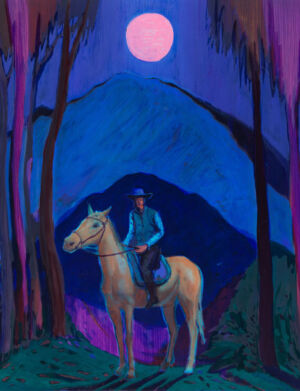 The Wick - Jules de Balincourt Solitary Cowboys, 2020 Galerie Thaddaeus Ropac
