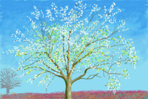 The Wick - Viewing David Hockney: The Arrival of Spring, Normandy, 2020