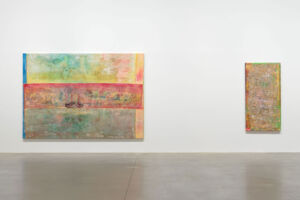 The Wick - 'Frank Bowling – London / New York', Installation view, Hauser & Wirth London, Photo: Alex Delfanne, Courtesy the artist and Hauser & Wirth