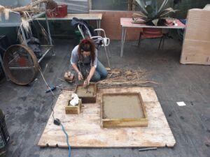 The Wick - Jasmine Pradissitto, working at Horniman Museum