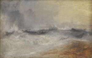 The Wick - Waves Breaking against the Wind c.1840 Joseph Mallord William Turner 1775-1851 Accepted by the nation as part of the Turner Bequest 1856 http://www.tate.org.uk/art/work/N02881