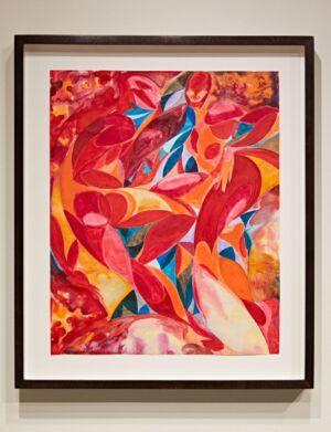 The Wick - Tunji Adeniyi-Jones, Sunset Duet, 2021, watercolour and ink on paper