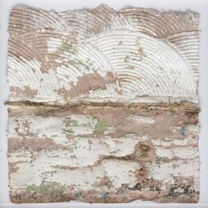 The Wick - Empreinter 1-6, 2018 Accreted latex pigment 28 x 28cm