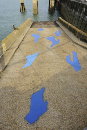 The Wick - Tina Gverovic, Surface Flows, Commissioned for Creative Folkestone Triennial 2021. Photo by Thierry Bal