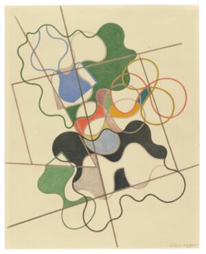 The Wick - Sophie Taeuber-Arp, Geometric and undulating, 1941