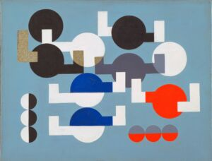 The Wick - Sophie Taeuber-Arp, Composition of Circles and Overlapping Angles