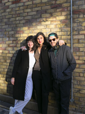 The Wick - Marisa Bellani with artists Alix Marie and Antony Cairns. (c) Ollie Hammick, 2019 @marisabellani @afnmarie @antony_cairns