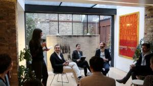 The Wick - Talk with Robert Norton (Verisart) and Daniel McCLean (Howard Kennedy) moderated by Tanya Tikhnenko, Roman Road, 2019. (c) Ollie Hamick @verisat @ @tanya.tikhnenko