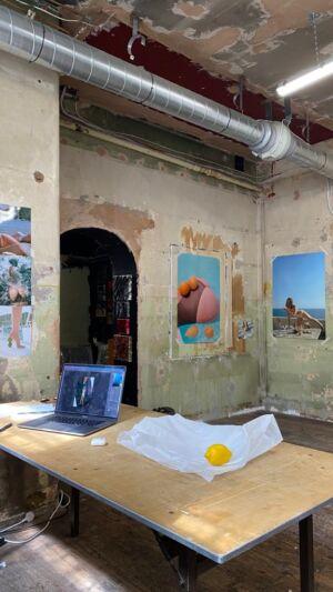 The Wick - Studio of Yulia Lebedeva at The Columbia Spring 2021 Spring Residency.  @ylebedeva @thecolumbialondon