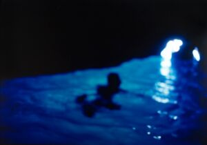 The Wick - Nan Goldin, Gigi in the Blue Grotto with light, Capri, 1997
